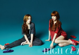 SNSD's Taeyeon-Tiffany Pose for 'High Cut' Magazine [PHOTOS]