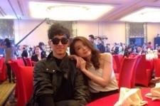 jang woo hyuk jang seo hee at jackie chan's birthday party