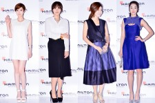 Kim Yoo Ri, Park Ji Yoon, Park Tam Hee and Choi Yeo Jin Attend 'Hamilton Watch Store' Opening Event - April 11, 2014 [PHOTOS]