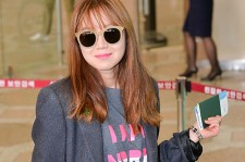 Gong Hyo Jin at Gimpo Airport to Attend 'Sue Comma Bonnie 2014 FW Presentation Event'