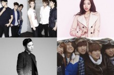 EXO-M, Park Shin Hye, and Verbal Jint are among performers who are coming to the U.S. in May.