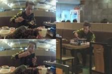 yoon doojoon eating bbq by himself
