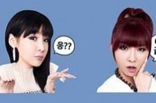LINE Features 2NE1's Stickers On Smartphone App