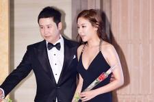 MC Shin Dong Yup and Kim Ah Joong at The 50th Annual Baeksang Arts Awards