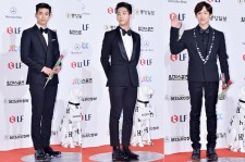 2PM's Ok Taecyeon, B1A4's Baro and ZE:A's Im Si Wan at The 50th Annual Baeksang Arts Awards