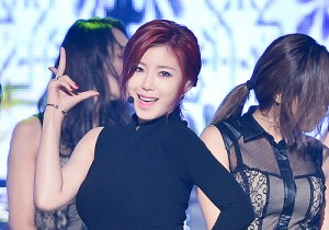 Secret's Jun Hyosung at MBC Music Show Champion