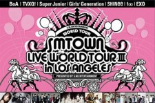 BoA, TVXQ, Super Junior, Girls' Generation, SHINee, f(x), EXO-K, EXO-M Arriving LA TOMORROW for SMTOWN Live World Tour 3!