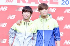 ZE:A's Hyungsik and Kwanghee at New Balance 2014 New Race Seoul Marathon