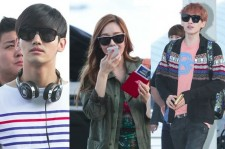 SM Artists at Incheon International Airport - SMTOWN Live World Tour 3 in Los Angeles