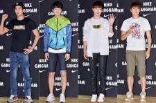 Kim Ji Suk, Park Min Woo, Seo Kang Joon and Suh Ji Suk Attend NIKE Gangnam Flagship Store Launch Event - Jun 12, 2014 [PHOTOS]