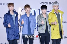 EXO's Sehun, Chen, Lay and Tao at KOLON SPORT 2014 F/W Fashion Show