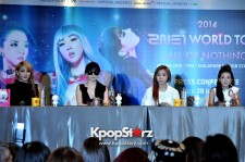 2NE1 Welcomed By Screaming Blackjacks At World Tour [All Or Nothing] In Singapore Open Press Conference