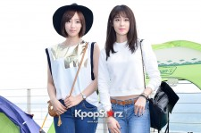 T-ara's Eunjung and Jiyeon at the Coleman Outdoor Camping Event
