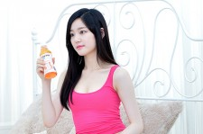 Lee Yoo Bi Filming for the Drink Brand 'Miero Fiber'