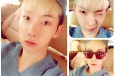Jo Kwon Shows Off His Perfect Skin