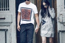 A very candid photo of T.O.P and Sohee for Reebok.