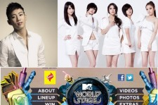 Jay Park & KARA Joins Justin Bieber for MTV World Stage Live in Malaysia 2012