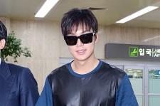 Lee Min Ho at Gimpo Airport from Shanghai, China