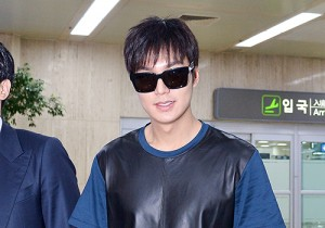 Lee Min Ho at Gimpo Airport from Shanghai, China
