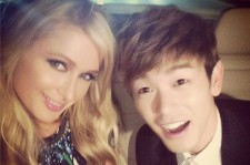 Eric Nam Takes A Photo With Paris Hilton