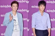 Oh Sang Jin and Ha Seok Jin at SISLEY Black Rose Precious Face Oil Launching Event