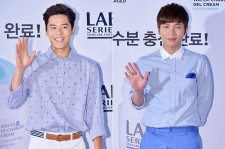 ZE:A's Dongjun and K.Will at LAB SERIES Male Cosmetic Launching Event at Shinsadong