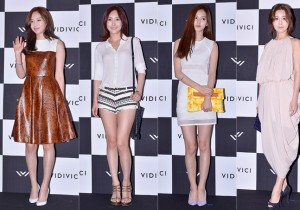 Kim Ah Joong, Kim Yoon Seo, Kim Yoon Hye and Seo Young Heeat VIDIVICI Launching Event