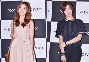Lady Jane and T-ara's Eun Jung at VIDIVICI Launching Event