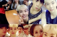 Jo Kwon Takes Selfies With Other JYP Arists