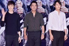 Jung Il Woo, Joo Sang Wook and Joo Won at a VIP Premiere of Upcoming Film 'The Pirate'