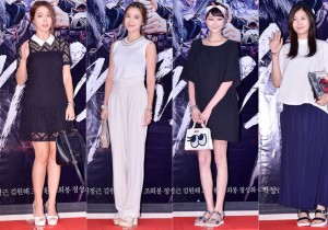 Lee Min Jung, Lee So Yeon, Lee Hye Jung and Jung So Min at a VIP Premiere of Upcoming Film 'The Pirate'