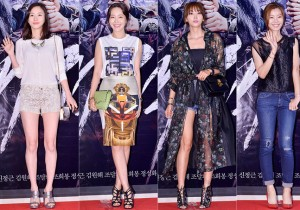 Sahee, Uhm Ji Won, Oh Yoon Ah and Yoon So Yi at a VIP Premiere of Upcoming Film 'The Pirate' - Jul 29, 2014 [PHOTOS]
