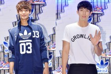 SHINee's Minho and 2AM's Lim Seulong Attend Adidas Originals Flagship Store Opening Event