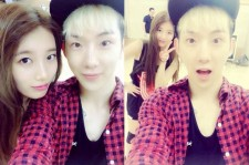 Jo Kwon Takes A Picture With Suzy During Practice