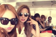 Apink Takes A Picture On A Flight To Jakarta