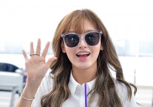 Rainbow's Jaekyung at Incheon International Airport Heading to LA M.NET K-CON 2014