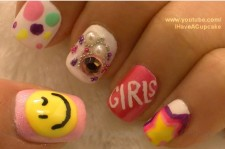 *Girls Generation SNSD* Korean Pop Inspired Nail Art
