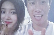 San E Shows Endless Happiness For Meeting miss A Suzy