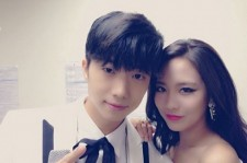 2PM Wooyoung And miss A Fei Take A Couple Look Picture Together