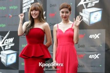 'Get It Beauty' Jae Kyung and Yoo In Na Attend KCON Red Carpet Event in Los Angeles- August 9 2014