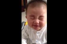 Cute Baby Eating Sour Lemon... 3 times!