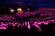 Girls' Generation fans show their support with pink cheer sticks
