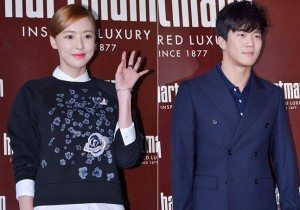Lee Da Hee and Ha Seok Jin at Hartman Flagship Store Launching Event