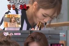 hyeri finishes noodle in 5 bites
