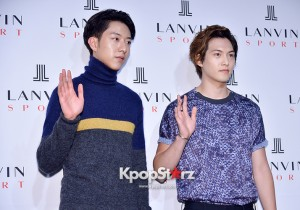 CNBLUE's Lee Jung Shin and Lee Jong Hyun Attend LANVIN Sports Launching Event