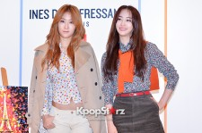 SISTAR's Dasom and Soyou Attend UNIQLO 2014 FW 'INES DE LA FRESSANGE' Presentation