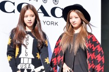 Apink's Naeun and Bomi Attend COACH Pop-up Store Launching Event