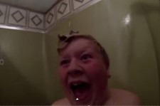Dad Pranks Son with Shower Scare | Psycho Returns