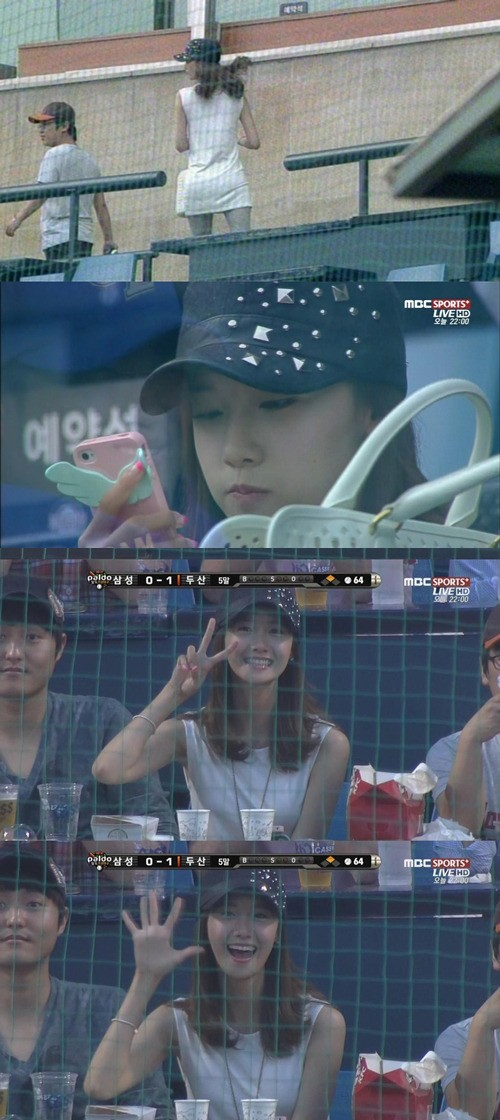 Girls' Generation (SNSD) Yoona Runs Into Seoh In Guk at Baseball Stadiumkey=>0 count1