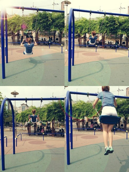 Rainbow's Ji Sook On the Swings, 'Goddess in a Playground'key=>0 count1